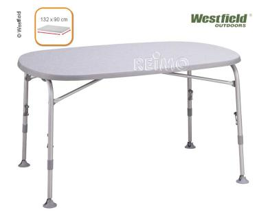 Campingtafel Superb Light 130 Alu, 132x90cm