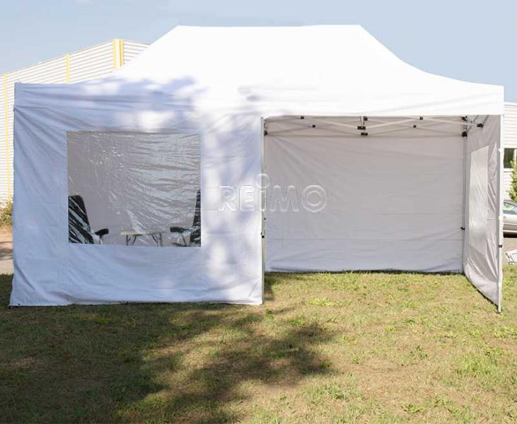 Tent pavilion white Size 3y6m, alu-frame (#90545) - Camping