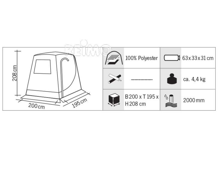 Rear tent for VW T5, no frame necessary (#936281) Tailgate