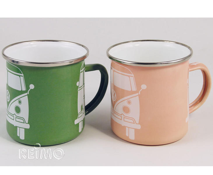 Set955802 apricot Vw 2er Collectie Bekers Emaille Groen gbfY76y